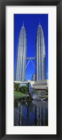 Framed Petronas Towers Kuala Lumpur Malaysia