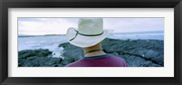 Framed Man with Straw Hat Galapagos Islands Ecuador