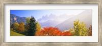 Framed Dolomites Alps in spring, Italy