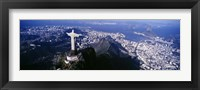 Framed View of Christ the Redeemer and Rio De Janeiro, Brazil