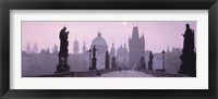 Framed Charles Bridge And Spires Of Old Town, Prague, Czech Republic