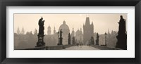 Framed Charles Bridge in the fog, Prague Czech Republic