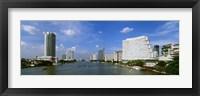 Framed Chao Phraya River, Bangkok, Thailand