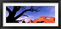 Framed Skyline Arch, Arches National Park, Utah, USA