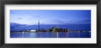 Framed Buildings at the waterfront, CN Tower, Toronto, Ontario, Canada