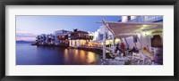 Framed Waterfront View of Mykonos, Greece