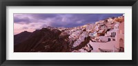 Framed Town at dusk, Santorini, Greece