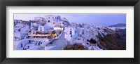 Framed White washed buildings, Santorini, Greece