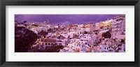 Framed Buildings along the Cliff, Santorini, Greece