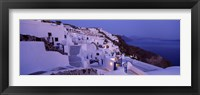 Framed Buildings in a city at dusk, Santorini, Cyclades Islands, Greece