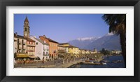Framed Buildings at the waterfront, Lake Maggiore, Ascona, Switzerland