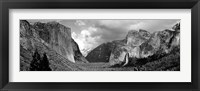 Framed USA, California, Yosemite National Park, Low angle view of rock formations in a landscape