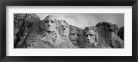 Framed Mount Rushmore (Black And White)