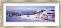 Framed Italy, Italian Alps, High angle view of snowcovered mountains