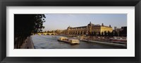 Framed Passenger Craft In A River, Seine River, Musee D'Orsay, Paris, France