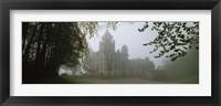Framed Castle Covered With Fog, Dunrobin Castle, Highlands, Scotland, United Kingdom