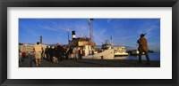 Framed Tourboat Moored At A Dock, Helsinki, Finland