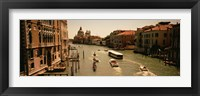 Framed High angle view of boats in water, Venice, Italy