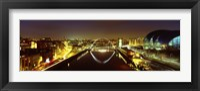 Framed Reflection Of A Bridge On Water, Millennium Bridge, Newcastle, Northumberland, England, United Kingdom