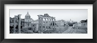 Framed Ruins Of An Old Building, Rome, Italy (black and white)