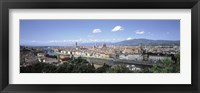 Framed High angle view of a city, Florence, Tuscany, Italy
