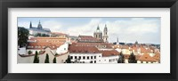 Framed Church in a city, St. Nicholas Church, Mala Strana, Prague, Czech Republic