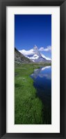 Framed Reflection Of Mountain In Water, Riffelsee, Matterhorn, Switzerland