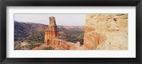 Framed High Angle View Of A Rock Formation, Palo Duro Canyon State Park, Texas, USA