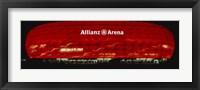 Framed Soccer Stadium Lit Up At Night, Allianz Arena, Munich, Germany