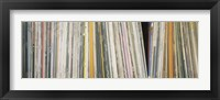 Framed Row Of Music Records, Germany