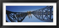 Framed Low Angle View Of A Bridge, Blue Bridge, Freiburg, Germany