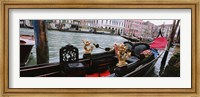 Framed Close-up of a gondola in a canal, Grand Canal, Venice, Italy