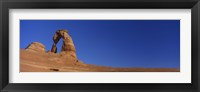 Framed Low angle view of a natural arch, Delicate arch, Arches National Park, Utah, USA
