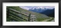 Framed Wooden fence in a field, Tirol, Austria