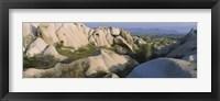 Framed Rock formations on a hill, Turkey