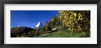 Framed Low angle view of a snowcapped mountain, Matterhorn, Valais, Switzerland