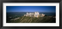 Framed High angle view of a fort, Crac Des Chevaliers Fortress, Crac Des Chevaliers, Syria
