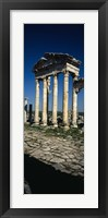 Framed Old ruins of a built structure, Entrance Columns, Apamea, Syria