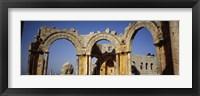 Framed Old ruins of a church, St. Simeon Church, Aleppo, Syria