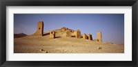 Framed Ancient tombs on a landscape, Palmyra, Syria