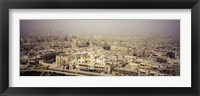 Framed Aerial view of a city in a sandstorm, Aleppo, Syria