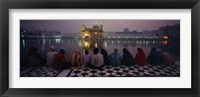 Framed Group of people at a temple, Golden Temple, Amritsar, Punjab, India