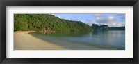 Framed Boat in the sea, Loh Dalam Bay, Phi Phi Islands, Thailand