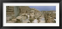 Framed Ruins of ancient Roman city, Leptis Magna, Libya