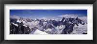 Framed High angle view of a mountain range, Mt Blanc, The Alps, France