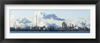 Framed Oil refinery at the waterfront, Delaware River, New Jersey, USA