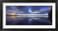 Framed Panoramic view of a river, Vuoksi River, Imatra, Finland