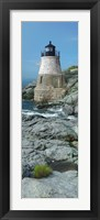 Framed Lighthouse along the sea, Castle Hill Lighthouse, Narraganset Bay, Newport, Rhode Island (vertical)