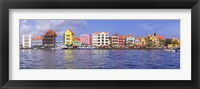 Framed Buildings at the waterfront, Willemstad, Curacao, Netherlands Antilles