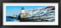 Framed Lighthouse along the sea, Castle Hill Lighthouse, Narraganset Bay, Newport, Rhode Island (horizontal)